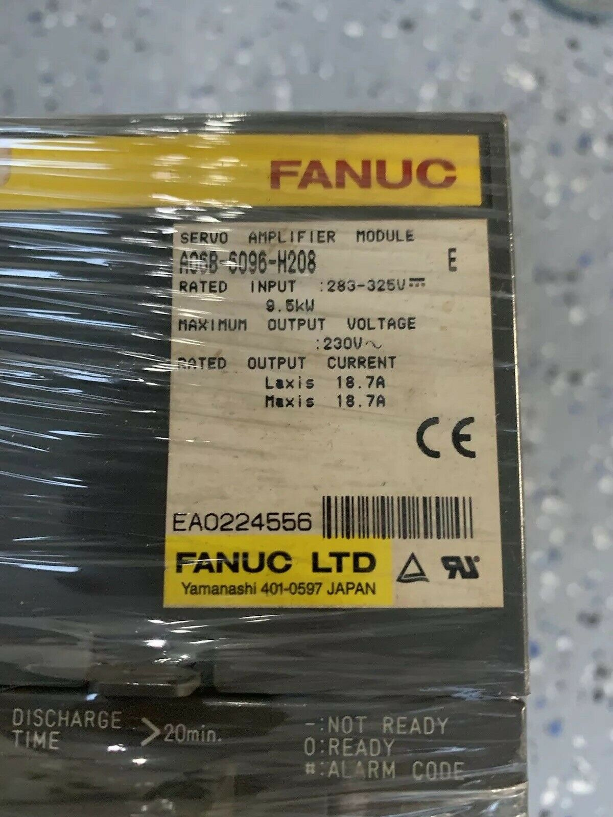 FANUC A06B-6096-H208 tested under full load, warranty 3 Month